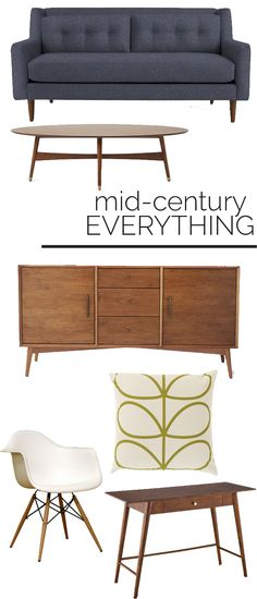 Mid Century Modern Furniture For more design tips visit http://seainteriordesign.com
