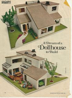 Original Woman's Day Article about the Ira Grandberg Dollhouse.  At the bottom is a link with dimension and plans.  How great!