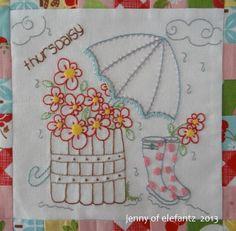 """Jenny of ELEFANTZ: Daisy Days block 4 ~ """"thursdaisy""""..."""
