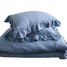 King Bedding Sets For Sale Linen Duvet, Ruffle Bedding, King Bedding Sets, Comforter Sets, Comforter Cover, Duvet Cover Sets, Modern Duvet Covers, Blue Duvet, Bed Linen Online