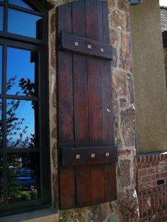 Exterior Wood Shutters Decorative Provide Privacy & Safety