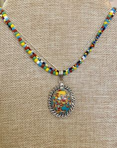 Primary colors pendant (handcrafted) for Sale in Dover, NH - OfferUp Ladybug Jewelry, Primary Colors, Seed Beads, Turquoise Necklace, Jewelry Accessories, Pendants, Pendant Necklace, Jewelry Findings, Hang Tags