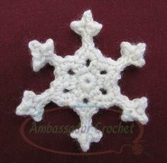 Snappy Snowflake~free pattern by Ambassador Crochet