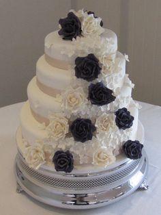 Rose Romance Wedding Cake  ~ Love This!!