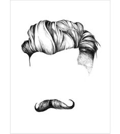 Kristine Mandsberg Male Hair illustration available from #artrebels store