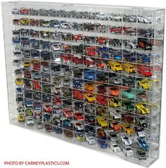 Hot Wheels | Display Case | (144 cars) Side Angle 1/64 Scale - $146