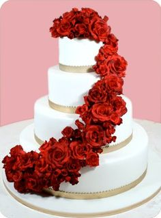 Imágenes de pasteles con rosas | todo en imágenes