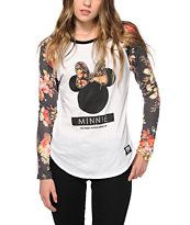 Neff x Disney Minnie Floral Baseball T-Shirt