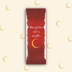Bookmark inspired by Sarah J. Maas`latest Book: Cresent City Cute Bookmarks, The Grisha Trilogy, Book Marks, Sarah J Maas, Crescent City, Korean Language, Book Aesthetic, Latest Books, Totoro