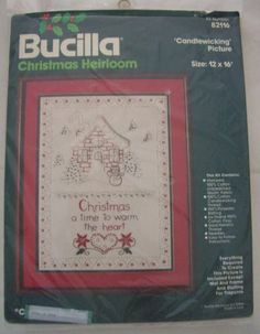 BUCILLA Candlewicking Embroidery CHRISTMAS IS Kit 82116 Heirloom Vintage