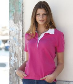 Front Row Ladies Short Sleeve 'Stretch' Rugby Shirt
