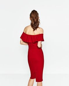 Image 6 of OFF-THE-SHOULDER DRESS from Zara