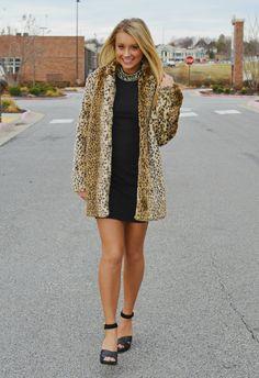 Leopard Faux Fur Coat | Haute Pink Boutique