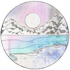Mountain and colour tattoo ideas.