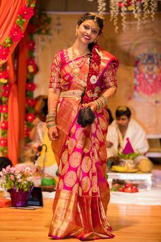 How To Clean Gold Jewelry With Vinegar Half Saree Designs, Sari Blouse Designs, Bridal Silk Saree, Silk Sarees, Kanjivaram Sarees, Half Saree Function, Saree Color Combinations, Wedding Saree Collection, Bridal Collection