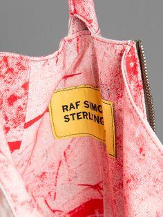 RAF SIMONS X STERLING RUBY DRIP BAG HEIGHT: 68CM WIDTH: 20CM DEPTH: 17CM