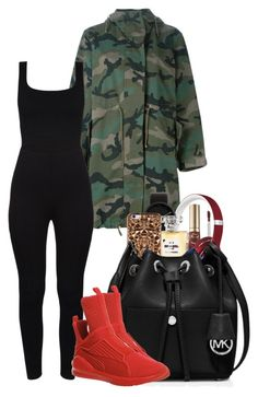 """""""Untitled #230"""" by shawtyhilfiger ❤ liked on Polyvore featuring Valentino, Too Faced Cosmetics, Beats by Dr. Dre, Alessi, Chanel, Felony Case, MICHAEL Michael Kors and Puma"""