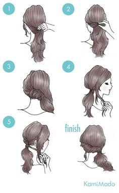 Tutorial de cabelo preso lateral com torcidinho.