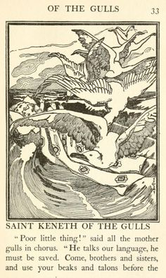 'The book of saints and friendly beasts' by Abbie Farwell Brown; illustrated by Fanny Y. Cory. Published 1900 by Houghton Mifflin, Boston.