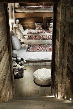 cozy bedroom in cabin for guests; best for grandchildren especially!!