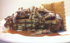 Chocolate and Petit Beurre Biscuit Cake, posted from MyGreekDish.com iOS app