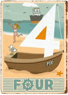 Artist Paul Thurlby has fun prints of numbers Belle And Boo, Typography Images, Numerology Numbers, Life Aquatic, Alphabet Print, Nautical Fashion, Nautical Style, Letters And Numbers, Letterpress
