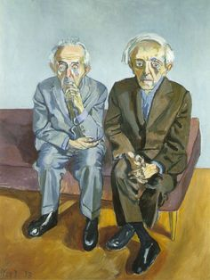 Alice Neel - The Soyer Brothers, 1973
