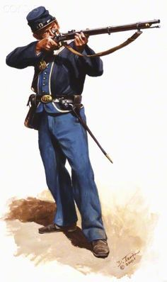 United States Civil War, Union Army, Private of the 12th Indiana Volunteers.