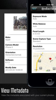 View the metadata associated with your current photos.