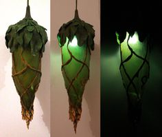 Woodland Lamp by Ermelyn on deviantART.  Would do a different presentation, but a cool idea