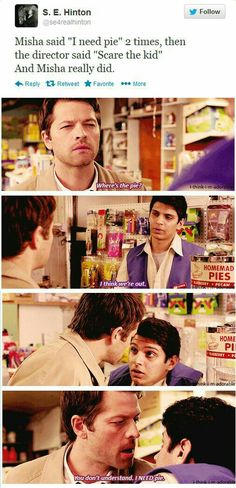 You don't understand I need pie  Cas