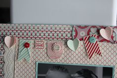 close up of scrapbook page found on Stampin' Up facebook
