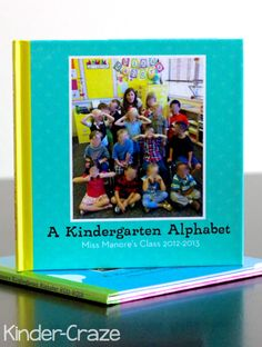 kindergarten alphabet photo books created in Shutterfly… a perfect keepsake for the end of the year!