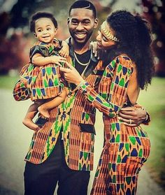 Latest Kitenge and Kente outfit ideas for families African Love, African Men, African Design, African Attire, African Beauty, African Dress, African Clothes, African Style, African Outfits