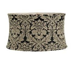 Shallow Drum No-Hug - Cotton Damask | Antique Lamp Supply