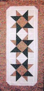Spinning Stars Table Runner Pattern