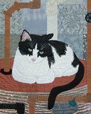 Waiting for Breakfast Art Quilt by Ann Fahl