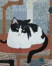 Waiting for Breakfast Art Quilt by Ann Fahl
