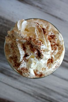 Starbucks Pumpkin Spice Latte at home! I use organic ingredients and get an all organic Latte... Yum!! <3