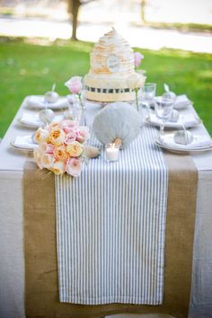 19 Ideas baby shower table linens burlap runners for 2019 Thanksgiving Table Runner, Fall Table, Burlap Runners, Table Runners, Seersucker Wedding, Wheat Flower, Outdoor Living, Indoor Outdoor, Party Outdoor