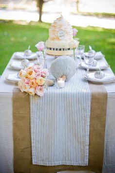 Seersucker cake table linen!