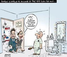 Les caricatures de Garnotte et de Pascal: Pourquoi le coiffeur de Hollande est payé 9895 euros par mois...
