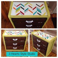 Beau Colorful Herringbone 3 Drawer Dresser Modern By Denver And Colorado Springs  Painted Furniture