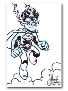 Superman sketch postcard by Chris Giarrusso