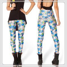 "SEXY HOT ! Wholesale New 2014 fitness Women Space Print Leggings ""black milk style ""FINN LEGGINGS Plus Size Free Shipping $21.98"