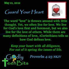 Guard your heart #devotional #Bible #God #Jesus #Godlyteenbits #christian