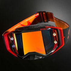 Scott Prospect MX Motocross Enduro Motocross goggles black neon red mirrored | eBay
