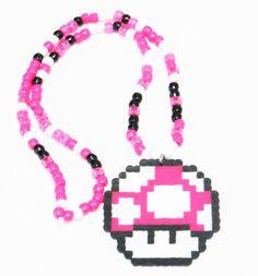 Mario Mushroom Kandi Necklace
