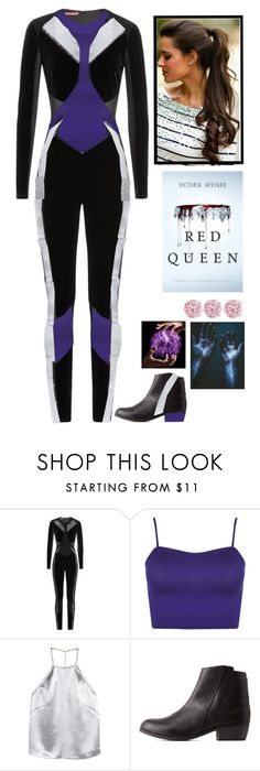"""""""Red Queen by Victoria Aveyard : Mare Barrow"""" by fatimaflores123 ❤ liked on Polyvore featuring Tamara Mellon, WearAll, H&M and Qupid"""