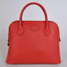 1037FS Hermes Bolide Bag in pelle 37 centimetri clemence in Flame con Sil replica Italia Borse Outlet!
